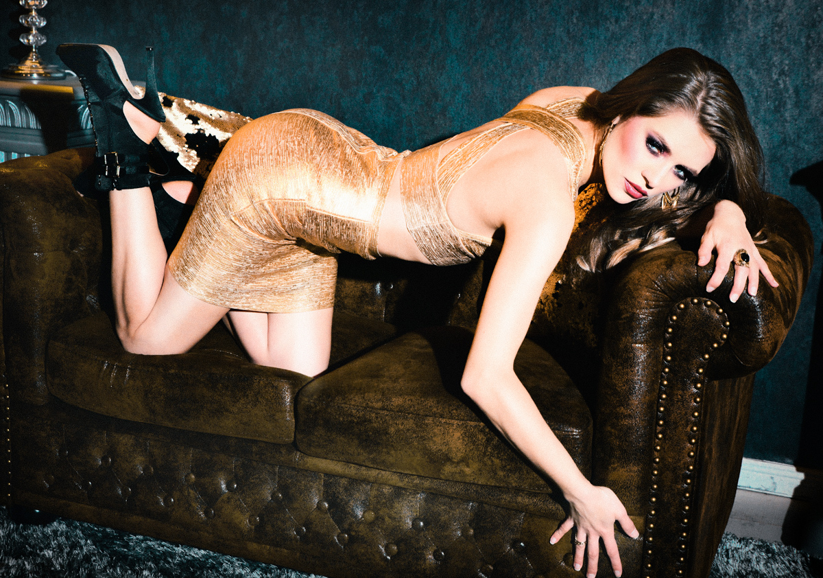 Isa golden dress two